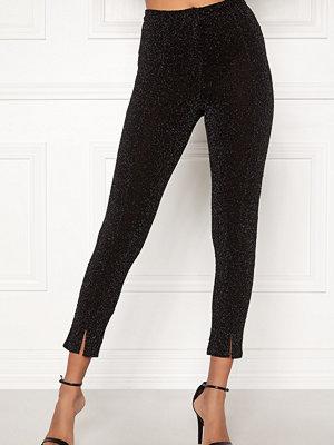 Bubbleroom svarta byxor Lene glittery trousers