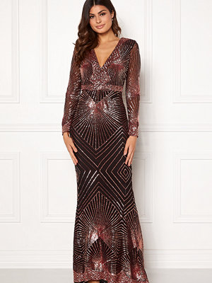 Goddiva Starburst Sequin Dress