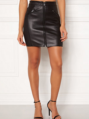 Only Violet Faux Leather Skirt