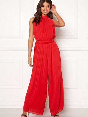 Ax Paris Blouson Pleated Jumpsuit