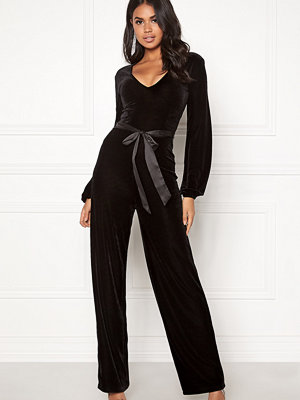 Make Way Farah velvet jumpsuit