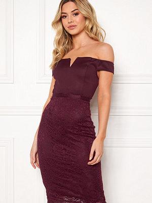 Ax Paris Bardot Lace Midi Dress