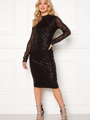 Ax Paris Sleeve Sequin Midi Dress