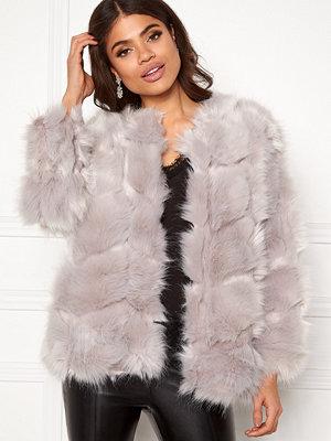 Urban Mist Diamond Panelled Fur