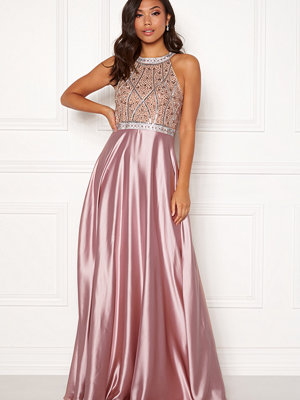Christian Koehlert Rhinestone Satin Dress