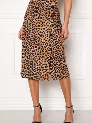 Kjolar - New Look Animal Asym Button Skirt