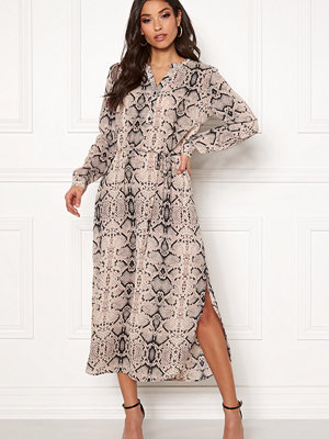Jacqueline de Yong Snakey L/S Long Dress