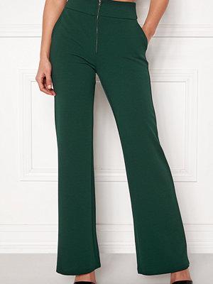 Y.a.s mörkgröna byxor Victoria Wide Pant