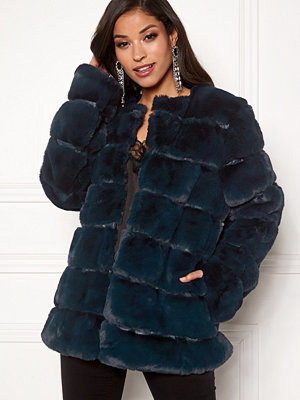 Urban Mist Plush Panelled Faux Fur
