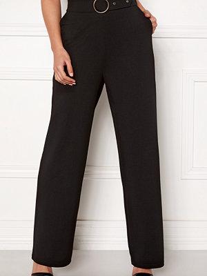 Pieces svarta byxor Vicca HW Wide Pants
