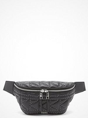 Karl Lagerfeld svart väska Quilted Stud Bumbag