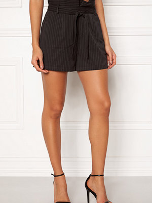 Make Way Disa paperbag shorts Black / Striped