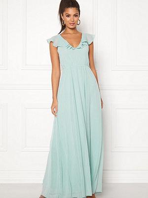 Vila Rannsil S/L Maxi Dress Blue Haze