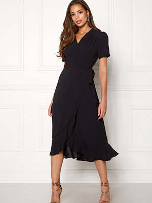 John Zack Short Sleeve Wrap Dress