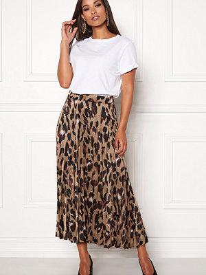 New Look Animal Pleated Midi Skirt
