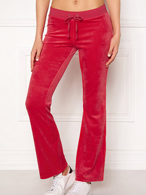 Juicy Couture röda byxor Luxe Velour Del Rey Pant