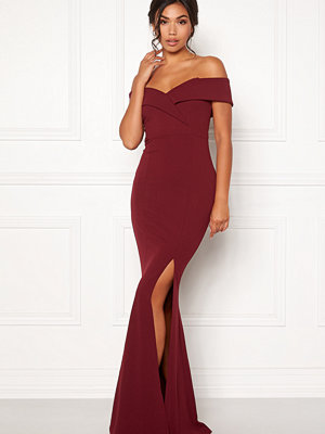 Bubbleroom Marianna folded off shoulder gown