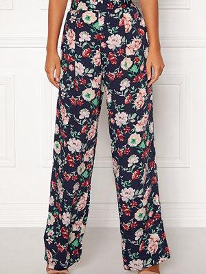 Bubbleroom mönstrade byxor Marianna wide trousers