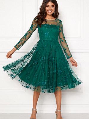 Goddiva Embroidered Midi Dress