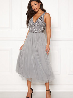 Angeleye Sequin Flower Midi Dress