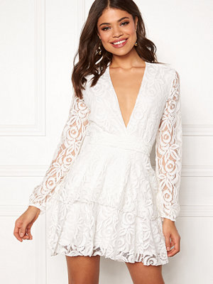 John Zack Lace Deep V Skater Dress