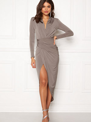 John Zack Long Sleeve Rouch Dress