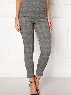 Bubbleroom grå rutiga byxor Megan trousers