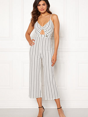 Jumpsuits & playsuits - Chiara Forthi Dunia jumpsuit Offwhite / Black