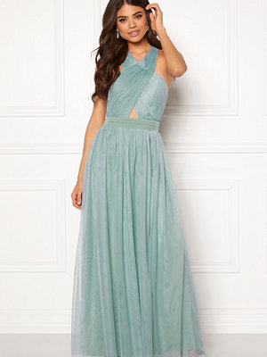 Little Mistress Crossover Maxi Dress