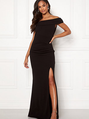 Goddiva Off Shoulder Pleat Dress