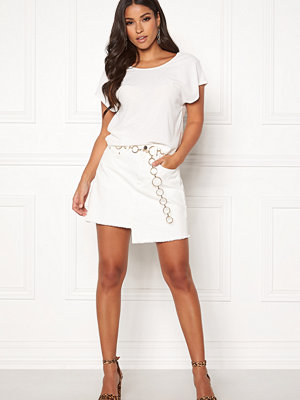 Ivyrevel Raw Edge Denim Skirt White