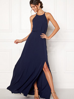 Moments New York Heather Crepe Gown Dark blue