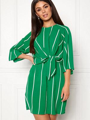 Ax Paris Stripe Tie Sleeve Dress