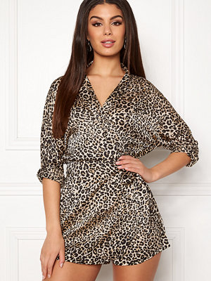 Ax Paris Animal Wrap Playsuit