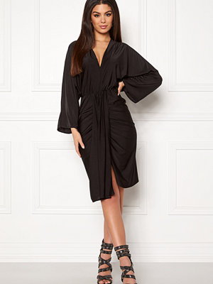 Ax Paris Deep V Drape Midi Dress