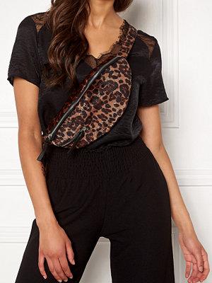 Only mönstrad väska Zipper PU Bumbag