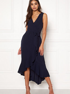 Ax Paris Wrap Frill Maxi Dress