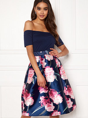 Ax Paris Bardot Floral Prom Dress