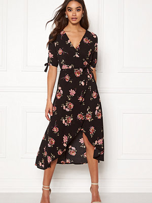Ax Paris Floral Tie Wrap Dress