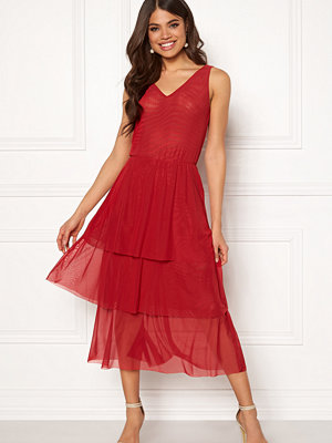 Rut & Circle Mesh V-neck Dress