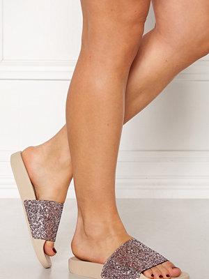 Sandaler & sandaletter - The White Brand Glitter Coral Slippers