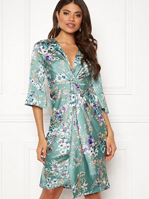 Blue Vanilla Floral Twist Midi Dress
