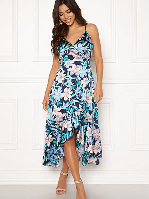 Blue Vanilla Floral Frilly Dress