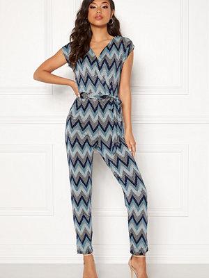 Blue Vanilla Wrap Front Tie Jumpsuit