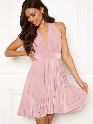 Goddiva Deep V Neck Skater Dress