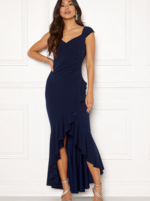 Goddiva Wrap Front Frill Dress