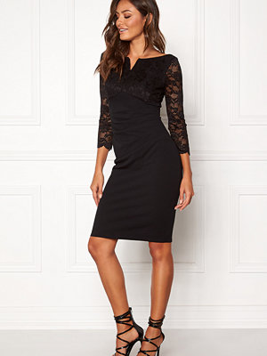 Goddiva Lace Top Midi Dress