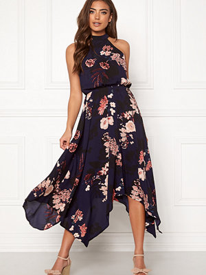 Ax Paris Floral Asymmetric Dress