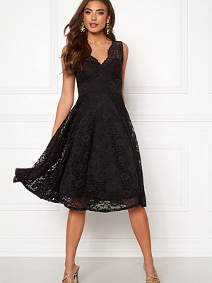Goddiva Open Back Skater Dress