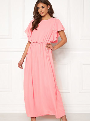 John Zack Frill Sleeve Maxi Dress